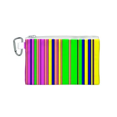 Hot Stripes Rainbow Canvas Cosmetic Bag (S)