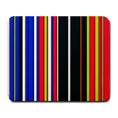 Hot Stripes Red Blue Large Mousepads