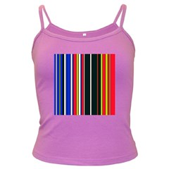 Hot Stripes Red Blue Dark Spaghetti Tanks