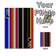 Hot Stripes Red Blue Playing Cards 54 Designs
