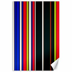 Hot Stripes Red Blue Canvas 24  X 36