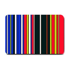 Hot Stripes Red Blue Small Doormat
