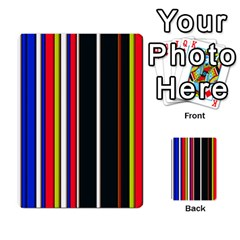 Hot Stripes Red Blue Multi-purpose Cards (Rectangle)