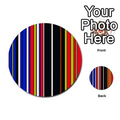 Hot Stripes Red Blue Multi-purpose Cards (Round)