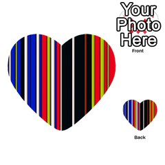 Hot Stripes Red Blue Multi-purpose Cards (Heart)