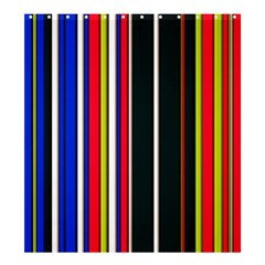Hot Stripes Red Blue Shower Curtain 66  x 72  (Large)