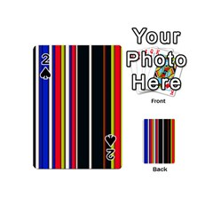 Hot Stripes Red Blue Playing Cards 54 (mini)