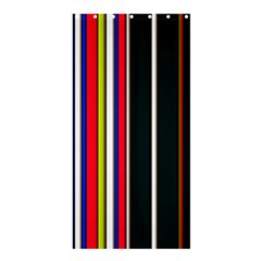 Hot Stripes Red Blue Shower Curtain 36  x 72  (Stall)