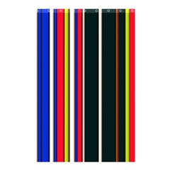 Hot Stripes Red Blue Shower Curtain 48  X 72  (small)