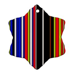Hot Stripes Red Blue Ornament (Snowflake)