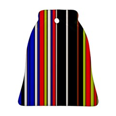 Hot Stripes Red Blue Bell Ornament (2 Sides)