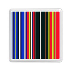 Hot Stripes Red Blue Memory Card Reader (square)