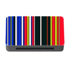 Hot Stripes Red Blue Memory Card Reader With Cf