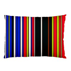 Hot Stripes Red Blue Pillow Cases (Two Sides)