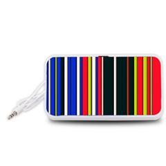 Hot Stripes Red Blue Portable Speaker (White)