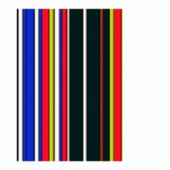 Hot Stripes Red Blue Small Garden Flag (Two Sides)