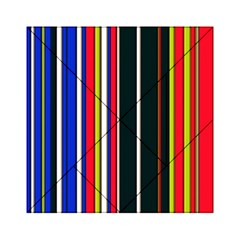 Hot Stripes Red Blue Acrylic Tangram Puzzle (6  X 6 )
