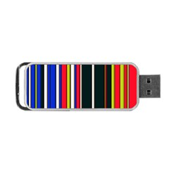 Hot Stripes Red Blue Portable USB Flash (One Side)
