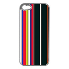 Hot Stripes Red Blue Apple Iphone 5 Case (silver)