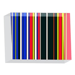 Hot Stripes Red Blue 5 x 7  Acrylic Photo Blocks