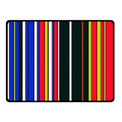 Hot Stripes Red Blue Double Sided Fleece Blanket (Small)