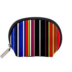 Hot Stripes Red Blue Accessory Pouches (small)
