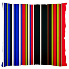 Hot Stripes Red Blue Large Flano Cushion Cases (Two Sides)