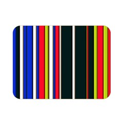 Hot Stripes Red Blue Double Sided Flano Blanket (Mini)
