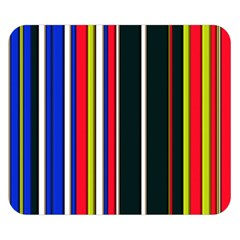 Hot Stripes Red Blue Double Sided Flano Blanket (small)