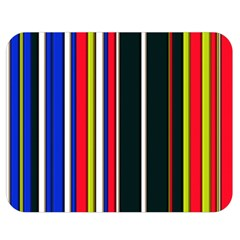 Hot Stripes Red Blue Double Sided Flano Blanket (medium)