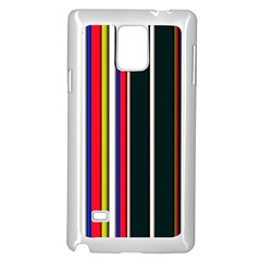 Hot Stripes Red Blue Samsung Galaxy Note 4 Case (White)