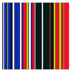 Hot Stripes Red Blue Large Satin Scarf (Square)