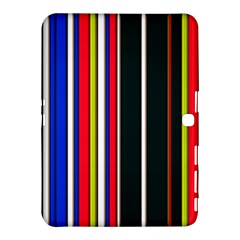 Hot Stripes Red Blue Samsung Galaxy Tab 4 (10.1 ) Hardshell Case