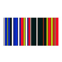 Hot Stripes Red Blue Satin Wrap
