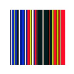 Hot Stripes Red Blue Small Satin Scarf (Square)