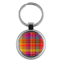 Plaid, Hot Key Chains (round)
