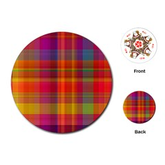 Plaid, Hot Playing Cards (Round)