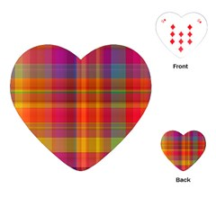 Plaid, Hot Playing Cards (Heart)