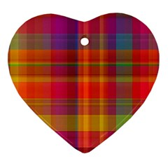 Plaid, Hot Heart Ornament (2 Sides)