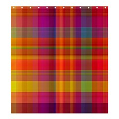 Plaid, Hot Shower Curtain 66  x 72  (Large)
