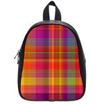 Plaid, Hot School Bags (Small)  Front