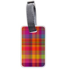 Plaid, Hot Luggage Tags (two Sides)