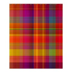 Plaid, Hot Shower Curtain 60  X 72  (medium)