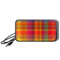 Plaid, Hot Portable Speaker (black)