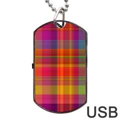 Plaid, Hot Dog Tag USB Flash (One Side)