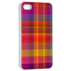 Plaid, Hot Apple Iphone 4/4s Seamless Case (white)