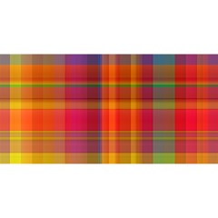 Plaid, Hot YOU ARE INVITED 3D Greeting Card (8x4)