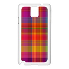 Plaid, Hot Samsung Galaxy Note 3 N9005 Case (white)