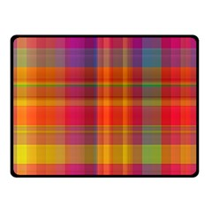 Plaid, Hot Double Sided Fleece Blanket (Small)