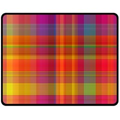 Plaid, Hot Double Sided Fleece Blanket (medium)